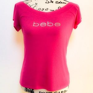 NWT BEBE FUCHSIA KNIT TOP